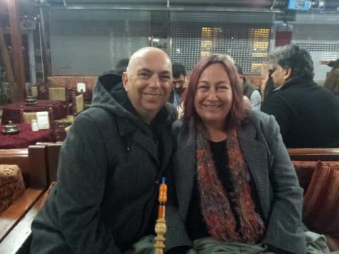 Marty and Tracey in Istanbul, October 2013