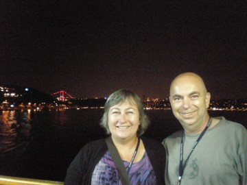 Martin and Tracey on ISEA2011 Bosphorus cruise