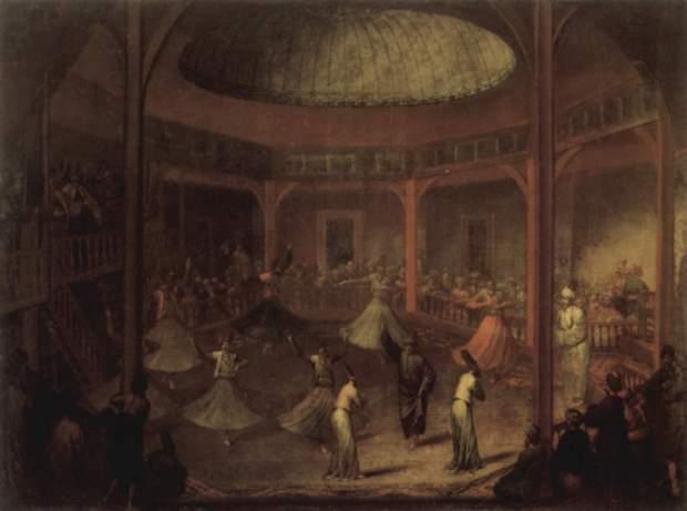 Tanzende Derwische im Mewlewi-Kloster in Pera