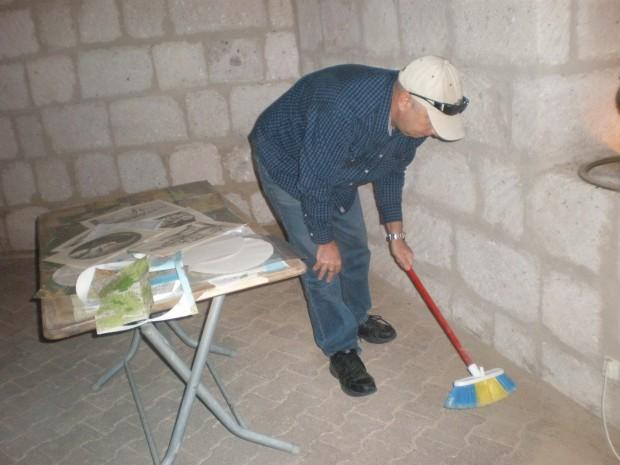 Marty hard at work