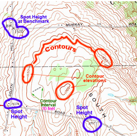 picture of part of a contour map
