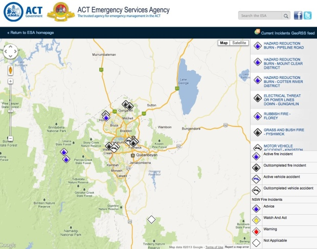 ACT ESA Incident Map