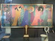 Klimt in the background