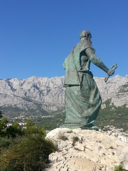 St Peter with the keys to the city, Makarska. Photo by Tracey Benson