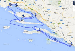 Our travelling route