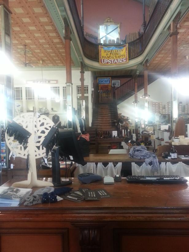 Inside old shop front, Bellingen