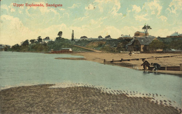 Upper Esplanade and bay views, Sandgate, ca. 1907 Image Credit: pictureqld.slq.qld.gov.au/
