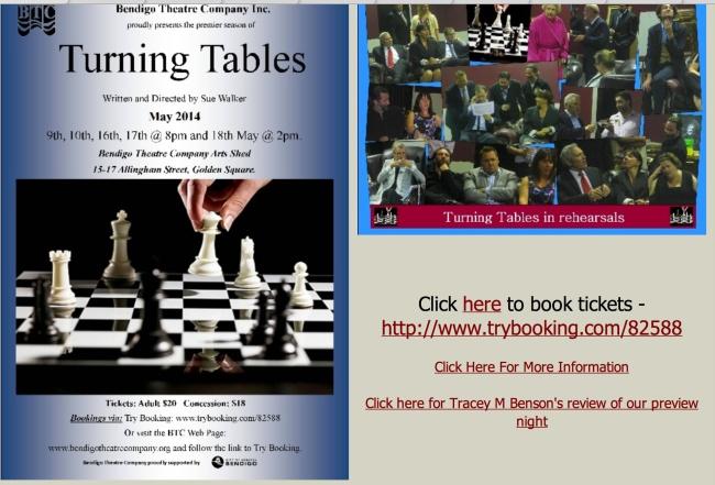Turning Tables: Bendigo Theatre Website