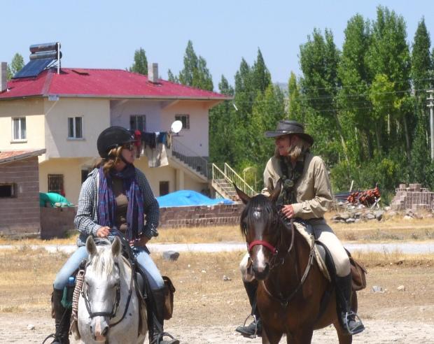 20 August: Susan and Donna share a joke, leaving Çiftlik